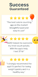 screenshot of YAZIO Calorie Counter, Nutrition Diary & Diet Plan version Varies with device