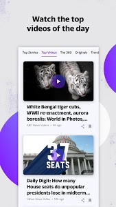 screenshot of Yahoo News version Varies with device