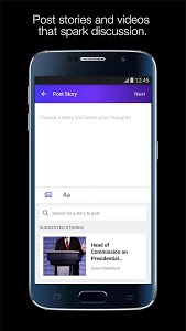 screenshot of Yahoo:Newsroom for Communities version Varies with device