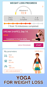 screenshot of Yoga for weight loss -Lose weight in 30 days plan version 2.5.2