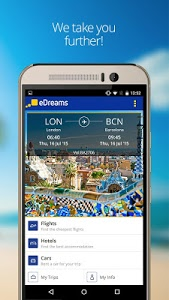 screenshot of eDreams-Flights, Hotels & Cars version 2.6