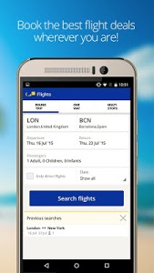 screenshot of eDreams-Flights, Hotels & Cars version 4.56.0